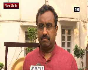 Mehbooba concerned only about terrorists criticiam of Pragya meanngless Ram Madhav [Video]