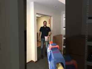 Guy Ambushes Brother Sending Toy Gun Dart Straight into His Mouth [Video]