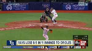 Joey Rickard's RBI double in 11th inning lifts Baltimore Orioles past Tampa Bay Rays 6-5 [Video]