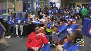 Sixers Host Watch Party At Boys & Girls Club In Camden [Video]