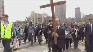 Way Of The Cross Procession Underway In Lower Manhattan [Video]