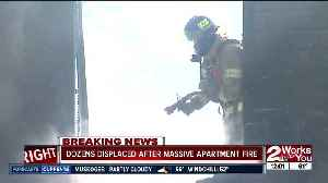 Dozens displaced after massive apartment fire [Video]