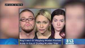 Boyfriend Of Former Playboy Model Arrested In Connection To Doctor's Killing Flashes Note In Court [Video]