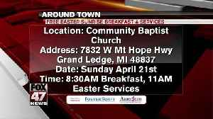 Around Town - 4/19/19 - Free Easter Sunrise Breakfast & Services [Video]