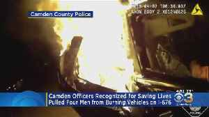 4 Camden County Police Officers Recognized For Saving 4 Men From Fiery Car [Video]