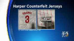 Hundreds Of Counterfeit Bryce Harper Jerseys Seized [Video]