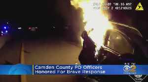 NJ Officers Honored After Car Fire Rescue [Video]