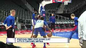 Casey hopes Pistons feed off fan support in Game 3 [Video]