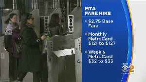 MTA Fare Hike Goes Into Effect [Video]