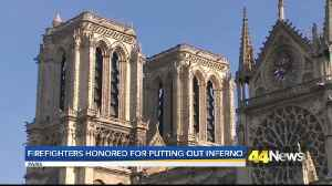 Notre Dame FF honored [Video]