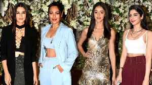 Sonakshi, Kiara, Kriti Sanon, Ananya Panday, Tara Sutaria Attend Manish Malhotra's Dinner Bash [Video]