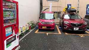 This tiny car park only has three spaces [Video]
