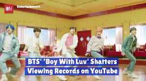 News video: BTS Is Breaking All Records On YouTube