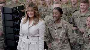Melania Trump Is Welcomed At Fort Bragg [Video]