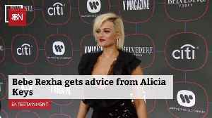 Bebe Rexha Looks To Alicia Keys And Pink For Guidance [Video]