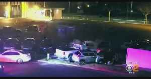 Police Pursuit Ends With Suspect Crashing Into Multiple Parked Vehicles [Video]