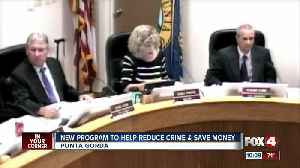 New program to help reduce crime and save money [Video]