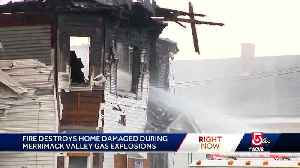 Arson suspected in fire that destroyed home first impacted by gas explosions [Video]