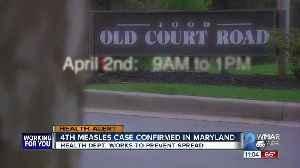 Fourth case of measles diagnoses in Maryland [Video]