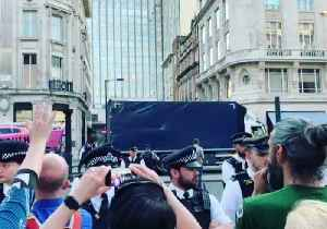 Police Remove Pink Boat From Extinction Rebellion Protest Site in London [Video]