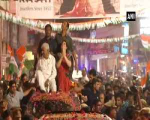 Priyanka Gandhi holds mega roadshow in UPs Kanpur [Video]