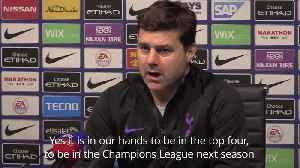 Mauricio Pochettino: Spurs top four finish in our own hands [Video]