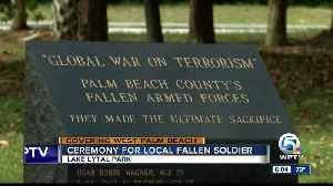 Ceremony for local fallen soldier held in West Palm Beach [Video]