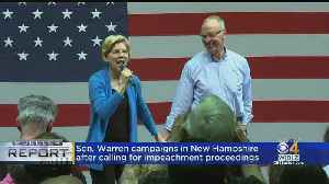 Sen. Warren Campaigns In New Hampshire [Video]
