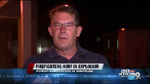 Firefighters hurt in explosion [Video]