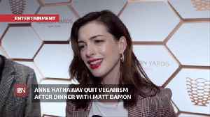 Anne Hathaway Is A Vegan No More [Video]