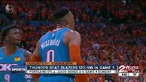 Thunder Beat Blazers, Still Trail 2-1 in Series [Video]