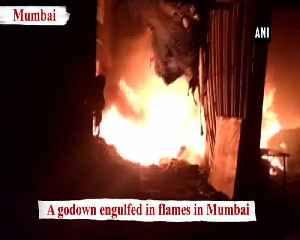 Fire breaks out at godown in Mumbai 2 fire tenders on spot [Video]