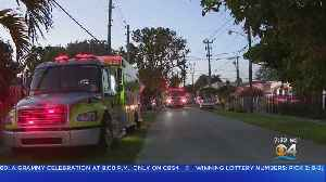 Early Evening Fire In SW Miami-Dade Causes Evacuations, Sends One Man To Hospital [Video]
