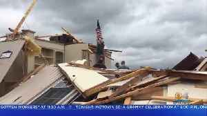 News video: Massive Storm Claims At Least 5 Lives, Destroying Homes Across Southeast U.S.