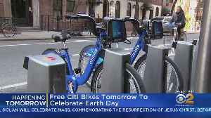 Citi Bike Offering Free Rides For Earth Day [Video]
