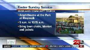 Easter Sunday service held at Park at River Walk [Video]