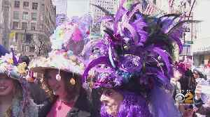 Stylish Celebration At Easter Bonnet Parade In Midtown [Video]