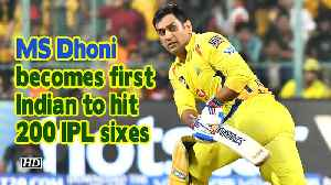IPL 2019 | MS Dhoni becomes first Indian to hit 200 IPL sixes [Video]