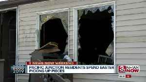 Pacific Junction resident spend Easter picking up the pieces [Video]