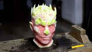 Talented Artist Carves Night King's Head Out Of Watermelon [Video]