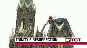 Historic church 'rising from ashes' [Video]