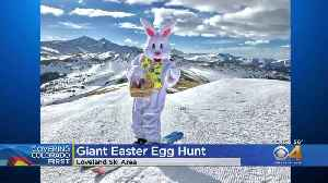 Loveland Ski Area Celebrates Easter With Giant Easter Egg Hunt [Video]