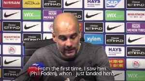 Guardiola: I've known Phil Foden was special since day one [Video]