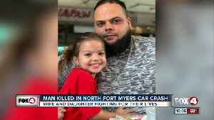 Man dies in crash, wife & daughter in critical condition [Video]