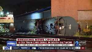 Four CSX train cars derailed late Sunday night; no injuries reported [Video]
