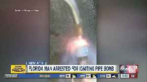 Florida man arrested for igniting homemade pipe bomb and sharing video on Facebook [Video]