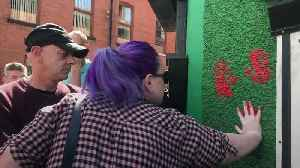 Friends of murdered journalist deface office of dissident republican group [Video]