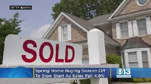 Spring Home Buying Season Off To Slow Start As Sales Fall 4.9% [Video]
