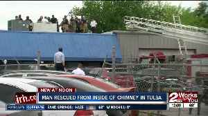 Man gets rescued from chimney in east Tulsa [Video]
