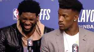 News video: Joel Embiid EPICALLY Trolls The Warriors & Says He WIll Pay Jimmy Butler's Fine After Brawl!
